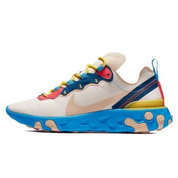 React Element 55 Tan Blue Red