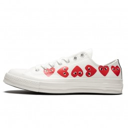 Converse Comme des Garçons Low Blanche Multi Coeurs-162975C-Limited Resell