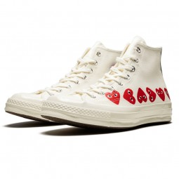 Converse Comme des Garçons High Blanche Multi Coeurs--162972C-Limited Resell