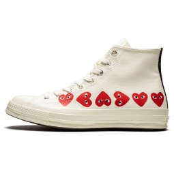 Converse Comme des Garçons High Blanche Multi Coeurs-162972C-Limited Resell