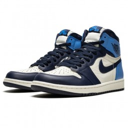 Air Jordan 1 Retro High Obsidian Sail UNC--555088-140-Limited Resell