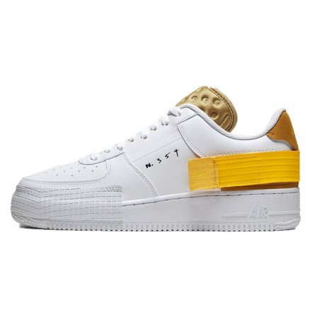 Air Force 1 Drop Type White Gold Yellow--AT7859-100-Limited Resell