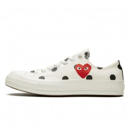Converse Comme des Garçons Play à Pois Blanc Ox Basse-157249C-Limited Resell
