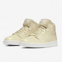Air Jordan 1 Mid Fossil Lemon Yellow-CK6587-200-Limited Resell
