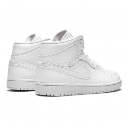Air Jordan 1 Mid Triple White-554724-129-Limited Resell