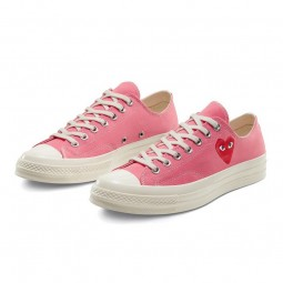 Converse Comme des Garçons Rose Basse-168304C-Limited Resell