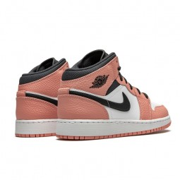 Air Jordan 1 Mid Pink Quartz--555112-603-Limited Resell