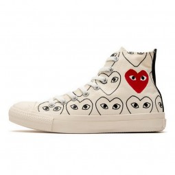 Converse Comme des Garçons White Heart Print-168304C-Limited Resell