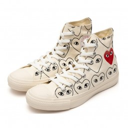 Converse Comme des Garçons White Heart Print--168304C-Limited Resell