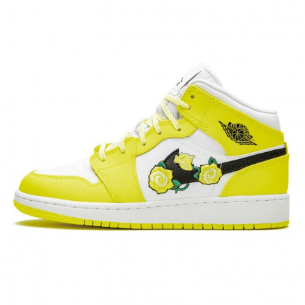 Air Jordan 1 Mid Dynamic Yellow Floral