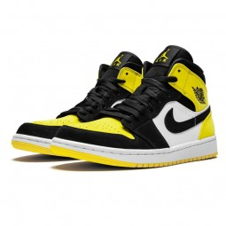 Air Jordan 1 Mid Yellow Toe Black-852542-071-Limited Resell