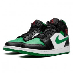 Air Jordan 1 Mid Pine Green Toe-554724-067-Limited Resell
