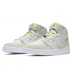 Air Jordan 1 Mid Vast Grey Ghost Green-CV3018-001-Limited Resell