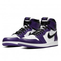 Air Jordan 1 Retro High OG Court Purple White--555088-500-Limited Resell