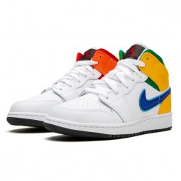Air Jordan 1 Mid Alternate Multi-Color--554725-128-Limited Resell
