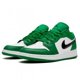 Air Jordan 1 Low Pine Green--553558-301-Limited Resell