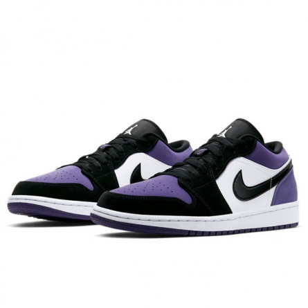 Air Jordan 1 Low Court Purple--553560-125-Limited Resell
