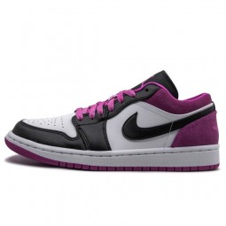 Air Jordan 1 Low Black Active Fuchsia--CK3022-005-Limited Resell