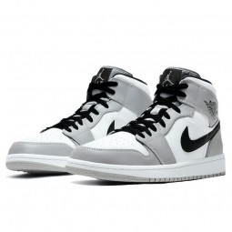 Air Jordan 1 Mid Light Smoke Grey--554725-092-Limited Resell