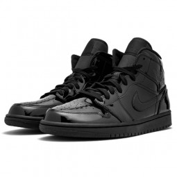 Air Jordan 1 Mid SE Triple Black Patent-BQ6472-002-Limited Resell