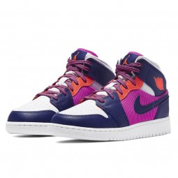Air Jordan 1 Mid Fire Pink Barely Grape-555112-602-Limited Resell