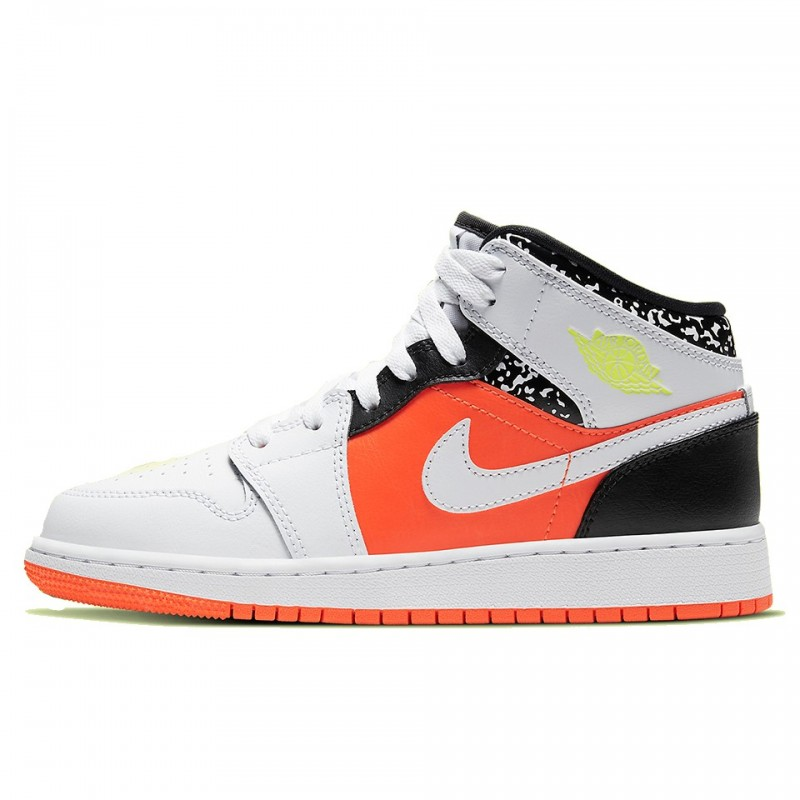 Air Jordan 1 Mid Composition Notebook-554725-870-Limited Resell