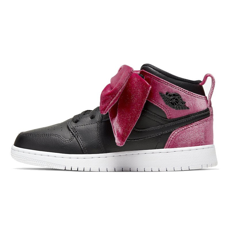 Air Jordan 1 Mid Bow Black Noble Red-CK5678-006-Limited Resell