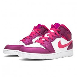 Air Jordan 1 Mid True Berry Rush Pink--555112-661-Limited Resell
