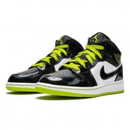 Air Jordan 1 Mid Black Cyber Mystic Green--BQ6931-003-Limited Resell