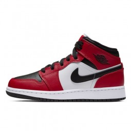 Air Jordan 1 Mid Chicago Black Toe--554725-069-Limited Resell