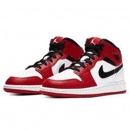 Air Jordan 1 Mid Chicago White--554725-173-Limited Resell