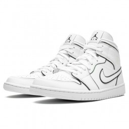 Air Jordan 1 Mid Iridescent Reflective White--CK6587-100-Limited Resell