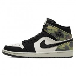 Air Jordan 1 Mid Camo--CW5490-001-Limited Resell