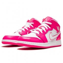 Air Jordan 1 Mid Hyper Pink White--555112-611-Limited Resell
