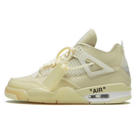Air Jordan 4 Retro Off-White Sail--CV9388-100-Limited Resell