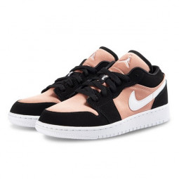 Air Jordan 1 Low Black White Rose Gold--554723-090-Limited Resell