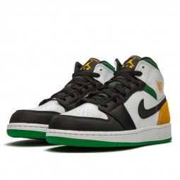 Air Jordan 1 Mid Oakland Laser Orange Lucky Green--BQ6931-101-Limited Resell