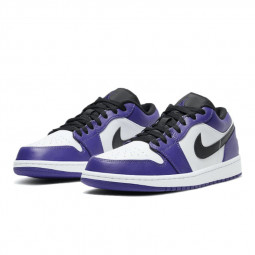 Air Jordan 1 Low Court Purple--553558-500-Limited Resell