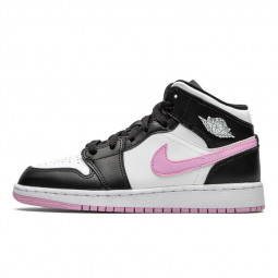 Air Jordan 1 Mid White Black Light Arctic Pink--555112-103-Limited Resell