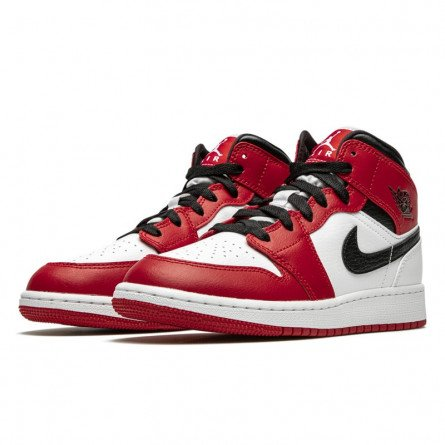 Air Jordan 1 Mid Chicago White--0000000575-Limited Resell