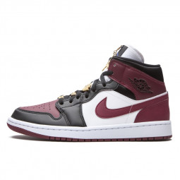 Air Jordan 1 Mid Gold Pendants Beetroot--CZ4385-016-Limited Resell