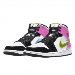 Air Jordan 1 Mid White Black Cyber Pink--CZ9835-100-Limited Resell