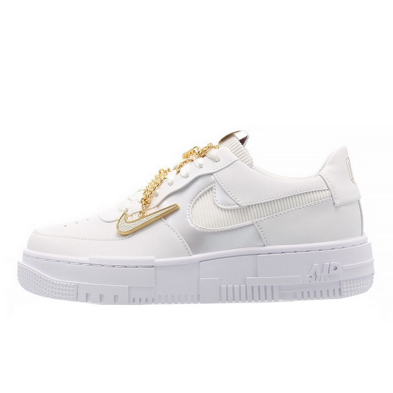 Air Force 1 Low Pixel Grey Gold Chain--0000000756-Limited Resell
