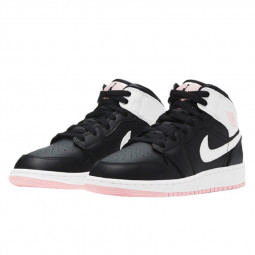 Air Jordan 1 Mid Arctic Pink Black--555112-061-Limited Resell