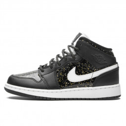 Air Jordan 1 Mid Black Speckle--AV5174-001-Limited Resell