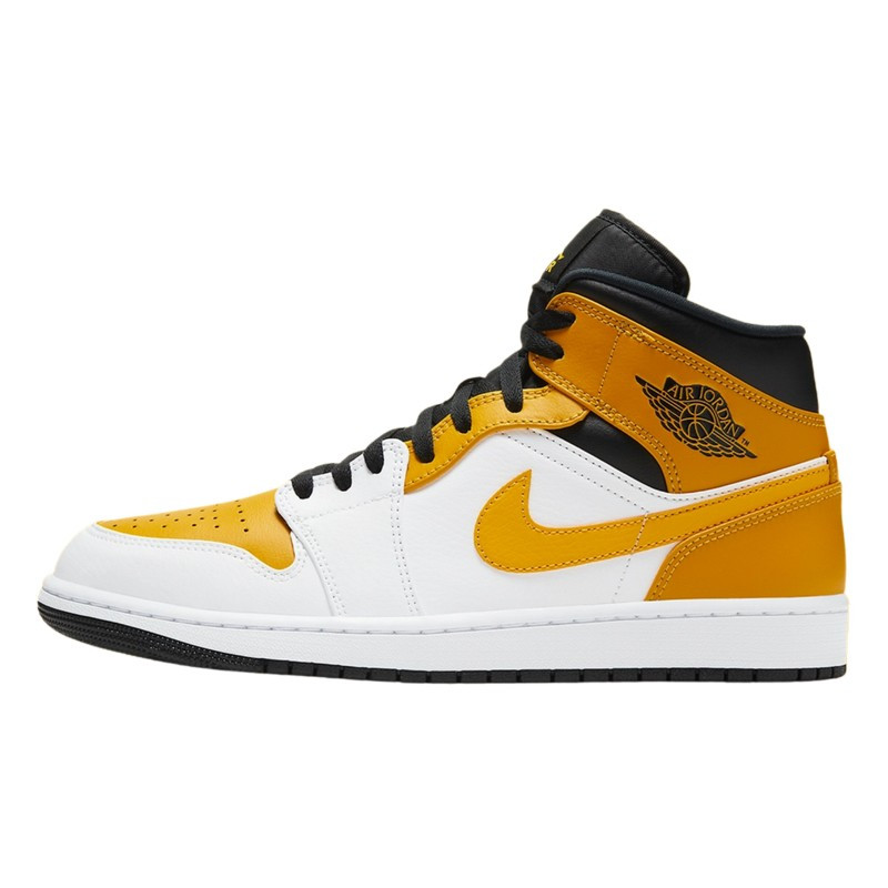 Air Jordan 1 Mid University Gold--554725-170-Limited Resell