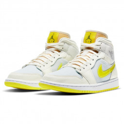 Air Jordan 1 Mid SE Voltage Yellow--DB2822-107-Limited Resell