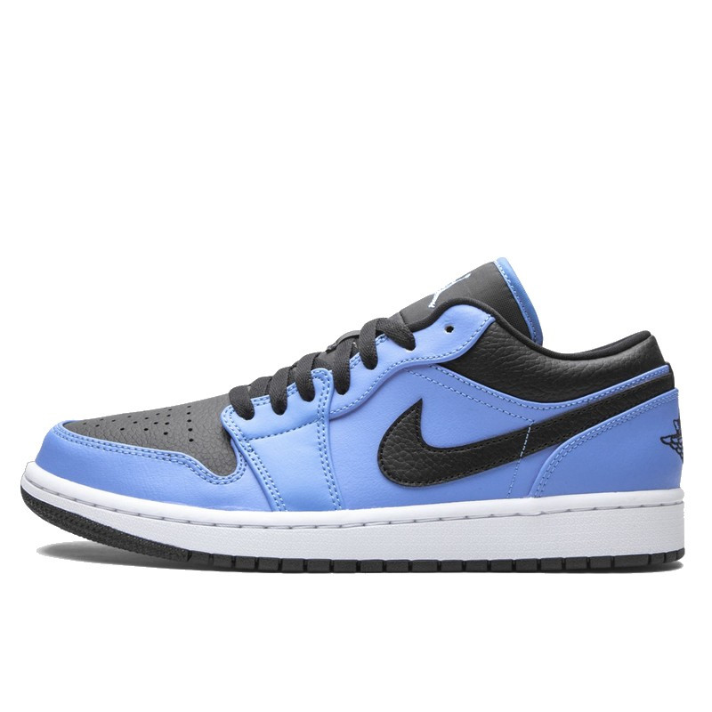 Air Jordan 1 Low University Blue Black--553558-403-Limited Resell