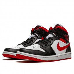 Air Jordan 1 Mid Gym Red Black White--554724-122-Limited Resell